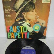 Disques de vinyle: FAUSTO PAPETTI SAX 8ª - RACCOLTA - LP - PALOBAL 1971 SPAIN SEXY COVER. Lote 191116740
