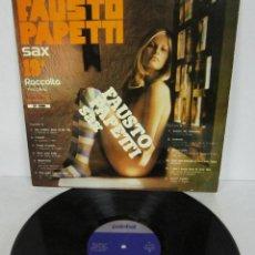 Disques de vinyle: FAUSTO PAPETTI SAX 19ª - RACCOLTA - LP - PALOBAL 1975 SPAIN SEXY COVER. Lote 119703859