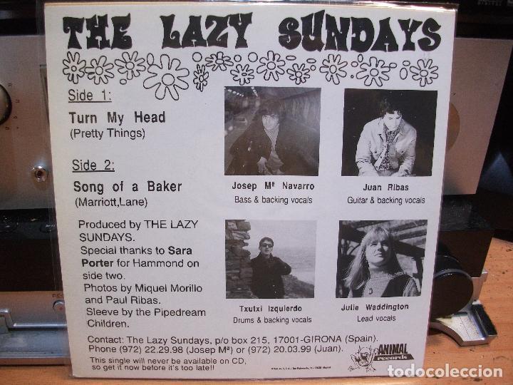 Discos de vinilo: THE LAZY SUNDAYS TURN MY HEAD +1 SINGLE SPAIN 1994 PEPETO TOP - Foto 2 - 119728687