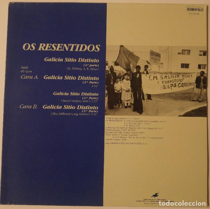 Discos de vinilo: Os Resentidos.... Galicia Sitio Distinto.(Grabaciones Accidentales 1989) Spain. - Foto 1 - 119757955