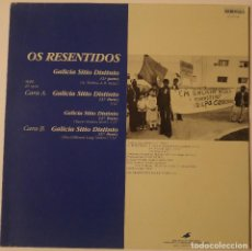Discos de vinilo: OS RESENTIDOS.... GALICIA SITIO DISTINTO.(GRABACIONES ACCIDENTALES 1989) SPAIN.. Lote 119757955