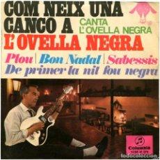 Discos de vinilo: L'OVELLA NEGRA (JORDI PÉREZ) - COM NEIX UNA CANÇO A L'OVELLA NEGRA - EP SPAIN 1967 - COLUMBIA. Lote 119873043