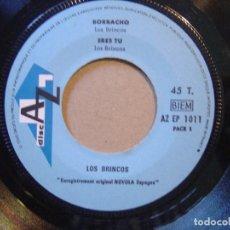 Discos de vinilo: LOS BRINCOS - BORRACHO - EP FRANCES DISC AZ. Lote 119878227