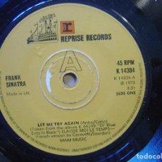 Discos de vinilo: FRANK SINATRA - LET ME TRY AGAIN + SEND IN THE CLOWNS - SINGLE UK REPRISE - 1973. Lote 119881191