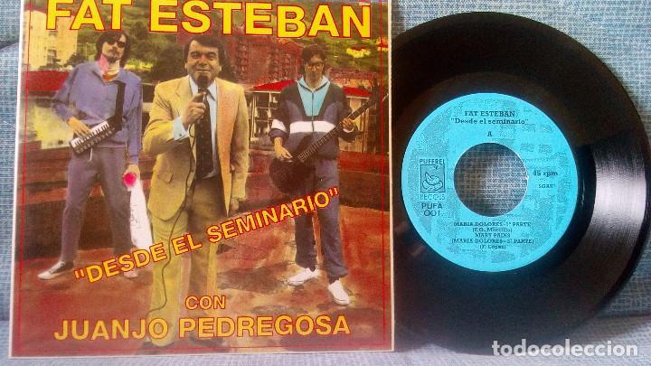 FAT ESTEBAN CON JUANJO PEDREGOSA - DESDE EL SEMINARIO + 3 EP DE 1992 POSTER GIGANTE - NUEVO SIN USO (Música - Discos de Vinilo - EPs - Grupos Españoles de los 90 a la actualidad)