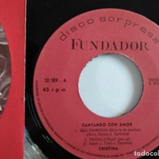 Discos de vinilo: EP - FUNDADOR - CRISTINA. Lote 119899079