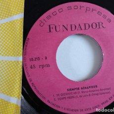 Discos de vinilo: EP - FUNDADOR - SIEMPRE AZNAVOUR. Lote 119899307