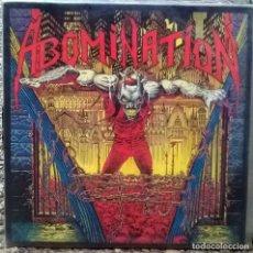 Discos de vinilo: ABOMINATION. ABOMINATION. NUCLEAR BLAST, WEST GERMANY 1990 LP + 2 ENCARTES. Lote 119911555