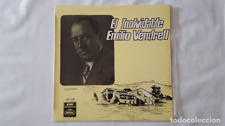 LP - EL INOLVIDABLE EMILIO VENDRELL (Música - Discos - LP Vinilo - Solistas Españoles de los 50 y 60)