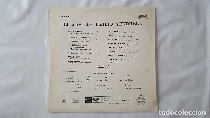 Discos de vinilo: LP - EL INOLVIDABLE EMILIO VENDRELL - Foto 2 - 119917511