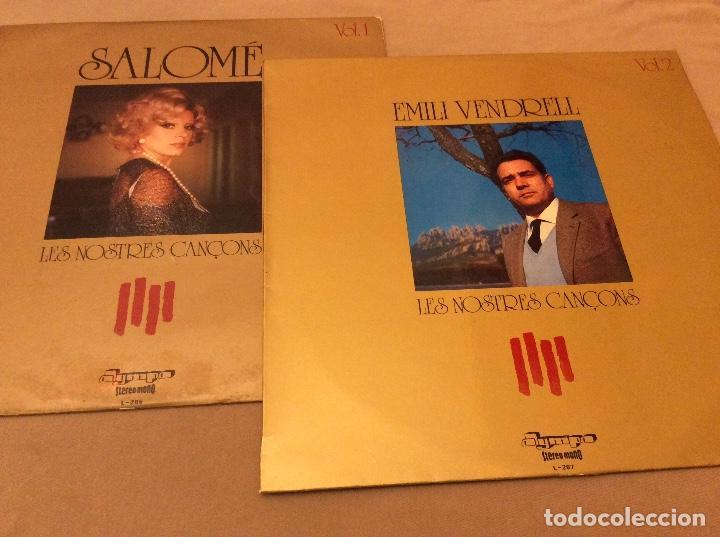 LES NOSTRES CANÇONS VOL. 1. Y VOL 2. OLYMPO 1974, 1975. SALOME. EMILI VENDRELL. (Música - Discos - LP Vinilo - Solistas Españoles de los 70 a la actualidad)