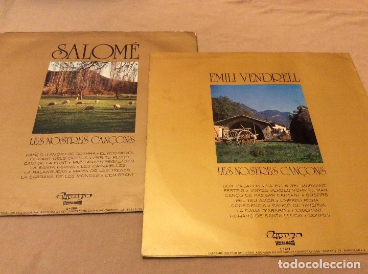 Discos de vinilo: Les Nostres Cançons Vol. 1. Y vol 2. Olympo 1974, 1975. Salome. Emili vendrell. - Foto 2 - 119920399