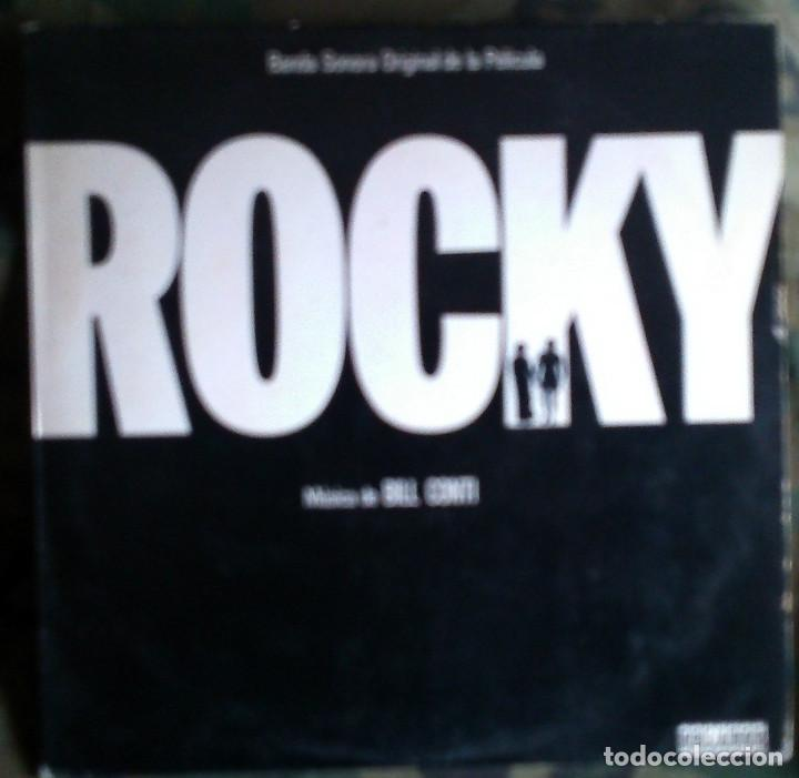 ROCKY LP 1977 BILL CONTI - STALLONE (Música - Discos - LP Vinilo - Bandas Sonoras y Música de Actores )