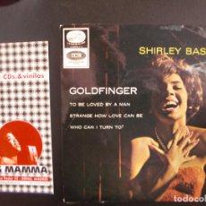 Discos de vinilo: SHIRLEY BASSEY- GOLDFINGER. EP. Lote 119961055