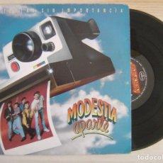 Discos de vinilo: MODESTIA APARTE - HISTORIAS SIN IMPORTANCIA - LP 1991 - MERCURY. Lote 119964167