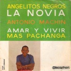 Discos de vinilo: VENDO SINGLE DE ANTONIO MACHIN, AÑO 1961 (MAS INFORMACIÓN EN 2ª FOTO EN EL INTERIOR).. Lote 119967771