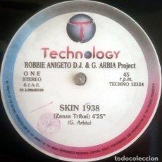 Discos de vinilo: ROBBIE ANICETO & G. ARBIA PROJECT - SKIN 1938 - TECHNOLOGY - TECHNO 12124 ITALY. Lote 211435990