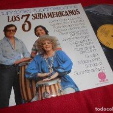 Discos de vinilo: LOS 3 TRES SUDAMERICANOS CANCIONES SUDAMERICANAS LP 1977 IMPACTO EXCELENTE ESTADO. Lote 120011363
