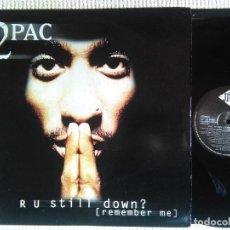 Discos de vinilo: 2PAC - '' R U STILL DOWN ? [REMEMBER ME] '' 3 LP + INNER ORIGINAL 1ST PRESSING 1997 UK. Lote 120026199