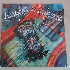 Discos de vinilo: MAXI LP ANGELES DEL INFIERNO INSTINTO ANIMAL HARD ROCK HEAVY METAL ESPAÑA. Lote 120030027