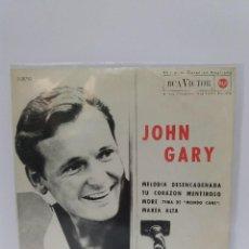 Disques de vinyle: EP ** JOHN GARY ** MELODIA DESENCADENADA ** COVER/ NEAR MINT ** EP/ EXCELLENT ** 1964. Lote 120052747