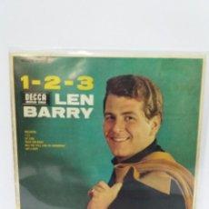 Discos de vinilo: EP ** LEN BARRY ** 1,2,3 ** COVER/ EXCELLENT ** EP/ EXCELLENT/ NEAR MINT ** 1965. Lote 120057775