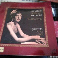 Discos de vinilo: MARIA BOIX LP CON LIBRETO CANCIONES ANTIGUAS ESPAÑOLAS 1970. Lote 120058779