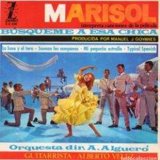 Discos de vinilo: MARISOL - BUSQUEME A ESA CHICA -, EP, LA LUNA Y EL TORO + 3, AÑO 1964. Lote 120061715