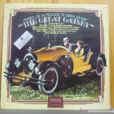Discos de vinilo: MÚSICA DE LA PELÍCULA EL GRAN GATSBY - THE GREAT GATSBY - LP RCA 1974. Lote 120071695