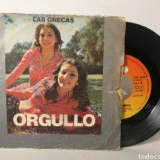 Discos de vinilo: LAS GRECAS - ORGULLO. Lote 120092600