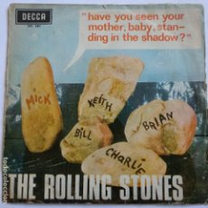 Discos de vinilo: THE ROLLING STONES - 45 SPAIN PS - HAVE YOU SEEN YOUR MOTHER, BABY, STANDING IN THE SHADOW?. Lote 120095359