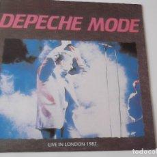 Discos de vinilo: DEPECHE MODE - LIVE IN LONDON 1982. Lote 120103659