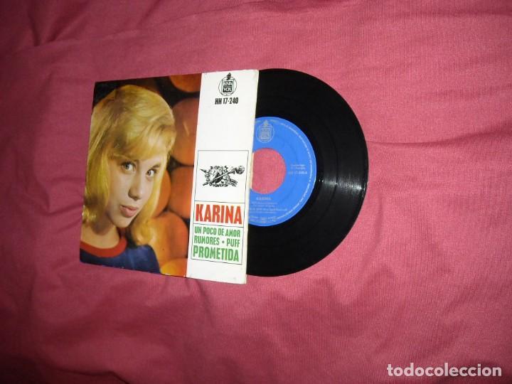 KARINA EP UN POCO DE AMOR/ RUMORES/ PUFF/ PROMETIDA 1963 VER FOTOS (Música - Discos de Vinilo - EPs - Solistas Españoles de los 50 y 60)