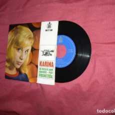 Discos de vinilo: KARINA EP UN POCO DE AMOR/ RUMORES/ PUFF/ PROMETIDA 1963 VER FOTOS. Lote 120109159