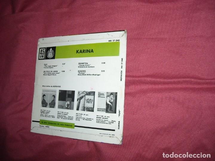 Discos de vinilo: KARINA EP un poco de amor/ rumores/ puff/ prometida 1963 ver fotos - Foto 2 - 120109159