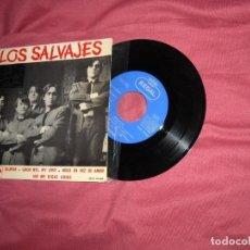 Discos de vinilo: LOS SALVAJES EP SILUETAS + 3 TEMAS (1965) SPA SEDL 19.466. Lote 120123903