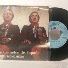 Discos de vinilo: LOS GEMELOS DE ESPAÑA - TIERRA MANCHEGA. Lote 120125184