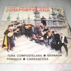 Discos de vinilo: TUNA UNIVERSITARIA COMPOSTELA - TUNA COMPOSTELANA EP. Lote 120129871