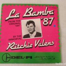 Discos de vinilo: RITCHIE VALENS LA BAMBA 87 FEATURING GAZPACHO TWINS 1987 4 VERSIONES COMO NUEVO. Lote 120145855