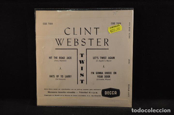 Discos de vinilo: CLINT WEBSTER - HIT THE ROAD JACK +3 - EP - Foto 2 - 120186771