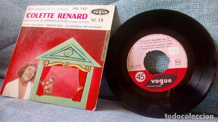 COLETTE RENARD & RAYMOND LEGRAND - MON HOMME EST UN GUIGNOL + 3 ED. FRANCESA VOGUE EPL. 7.637 EP (Música - Discos de Vinilo - EPs - Canción Francesa e Italiana)