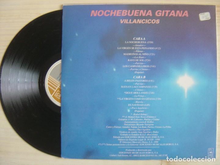 Discos de vinilo: VILLANCICOS NOCHEBUENA GITANA - LP 1990 - HORUS - Foto 2 - 120218199