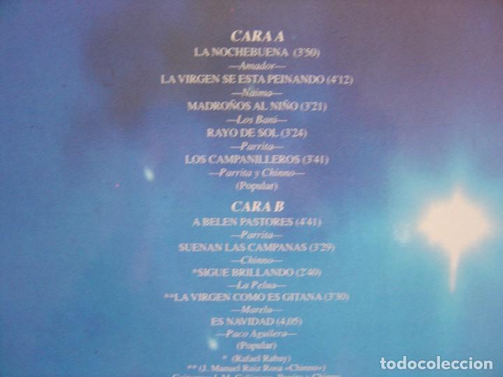 Discos de vinilo: VILLANCICOS NOCHEBUENA GITANA - LP 1990 - HORUS - Foto 3 - 120218199