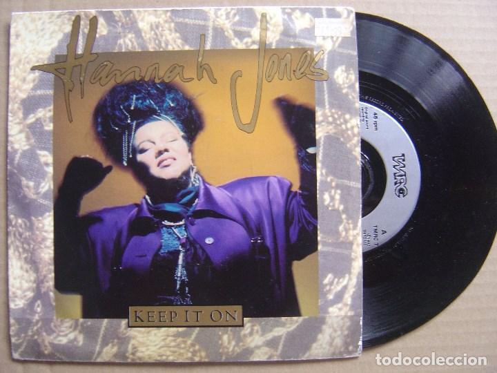 HANNAH JONES - KEEP IT ON - SINGLE UK WRC - 1992 (Música - Discos - Singles Vinilo - Techno, Trance y House)