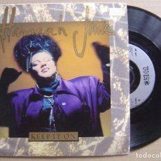 Discos de vinilo: HANNAH JONES - KEEP IT ON - SINGLE UK WRC - 1992. Lote 120225915