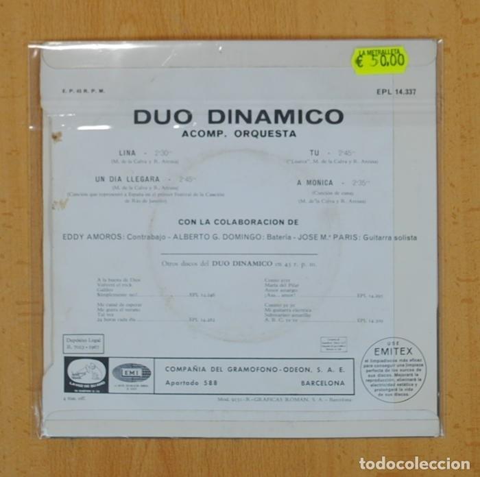 Discos de vinilo: DUO DINAMICO - LINA + 3 - EP - Foto 2 - 120253104