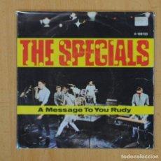 Discos de vinilo: THE SPECIALS - A MESSAGE TO YOU RUDY / NITE KLUB - SINGLE. Lote 128077647
