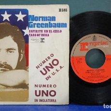 Discos de vinilo: NORMAN GREENBAUM. ESOIRITU EN EL CIELO / TARS OF INDIA. REPRISE RECORDS 1970, REF. H 585. SINGLE. Lote 120283423