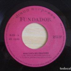 Discos de vinilo: MINA CANTA SUS CREACIONES - NEL FONDO DEL MIO CUORE + TU NON ...- EP ESPAÑOL 1971 - FUNDADOR. Lote 120323011