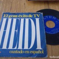 Discos de vinilo: HEIDI CANTADO EN ESPAÑOL. OYE Y DIME ABUELITO. Lote 120327347